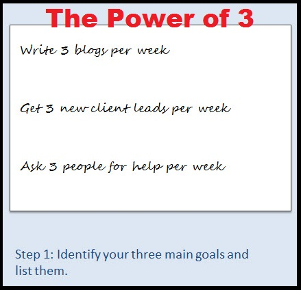 Power of 3 Work Smarter not Harder first
