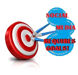 social media requires goals