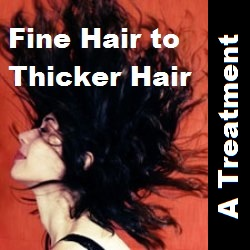 Fine hair to thicker hair