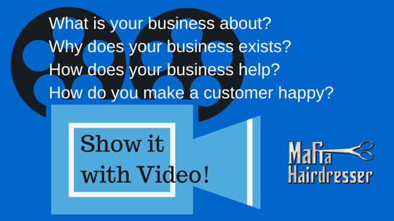 Video for business by mafia hairdresser